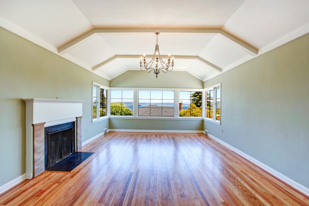 living room with ceiling lamp